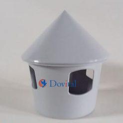 Drinkbak gemaakt van plastic grijs ongeveer 1 liter