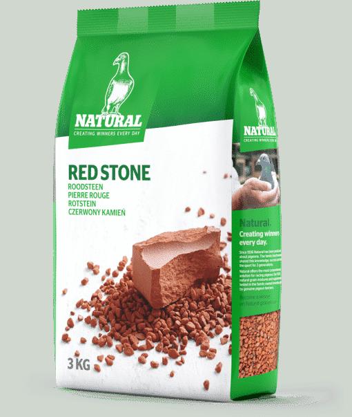 Natural roodsteen 3 kg