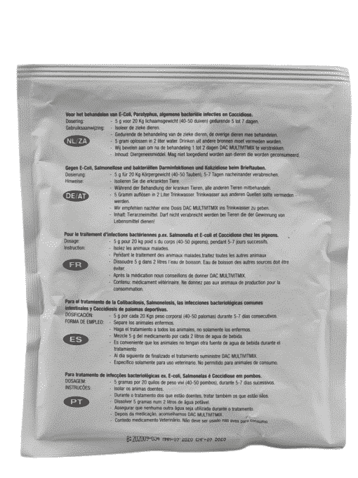 Dac Pharma Trimethoprim / Sulfa (E-coli, Salmonella, bacteriële infectie)